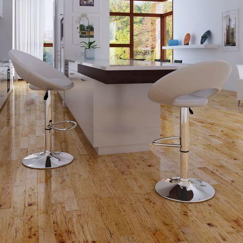krzesła barowe białe, nietypowy kształt marki Vidaxl