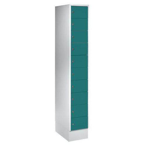 Eugen wolf Szafa z małymi schowkami, 10 półek, wys. x szer. 1850x300 mm, kolor drzwi: zielo