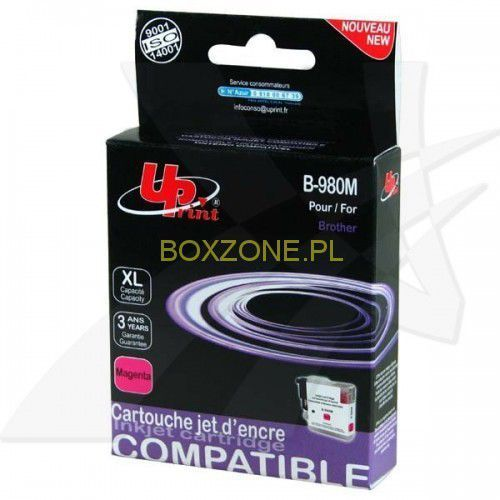 UPrint kompatybilny ink z LC-980M, magenta, 12ml, B-980M, dla Brother DCP-145C, 165C, IBRLC980MXMU (6282773)