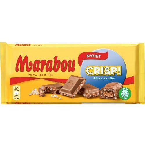 - crisp - czekolada mleczna z kawałkami ryżu dmuchanego - 185g - ze szwecji marki Marabou