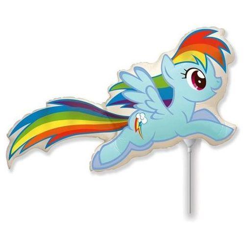 Balon foliowy do patyka my little pony - rainbow dash - 37 cm marki Go