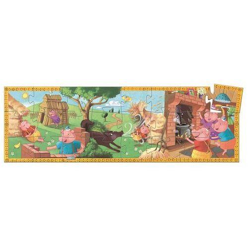 , 3 małe świnki, dj07212, puzzle w pudełku marki Djeco