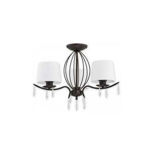 Lemir Agila O2483 W3 RW plafon lampa sufitowa żyrandol 3x60W E27 rdza wenge / biały (5902082866398)