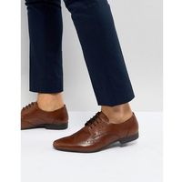 Pier one leather brogue shoes in brown - brown