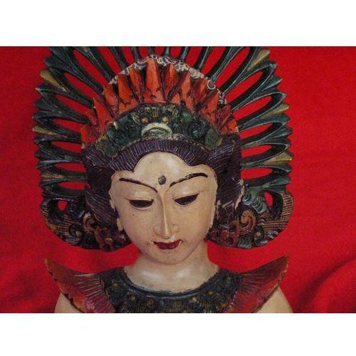 Wyspa bali Dekoracyjny prezent rzeźba egzotyczna maska mitycznej bogini z wyspy bali