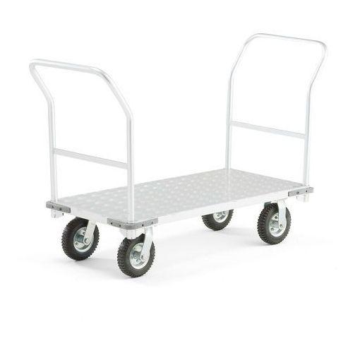 Aluminiowy wózek platformowy, 2 ramy, obciążenie 300 kg, 610x1260 mm, 31158