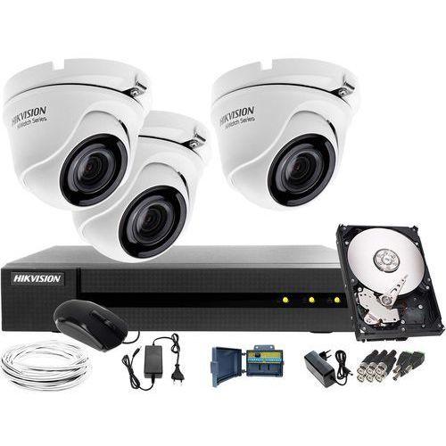 3x hwt-t123-m zestaw monitoringu hwd-6104mh-g2, 1tb, akcesoria marki Hikvision hiwatch
