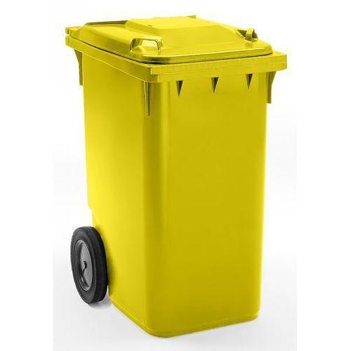 Duży pojemnik na odpady z tworzywa, wg PN EN 840, poj. 360 l, wys. x szer. x głę