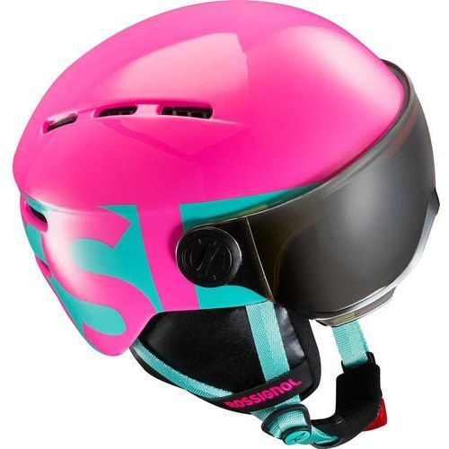 Rossignol  visor jr. girl różowy xs (50-54cm) turkus 2017-2018 (3607682201755)