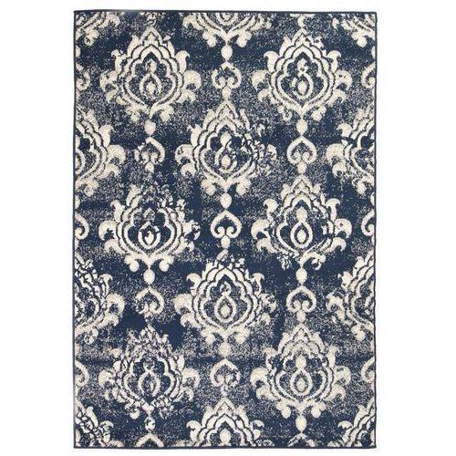 Nowoczesny dywan, wzór Paisley, 180 x 280 cm, beżowo-niebieski