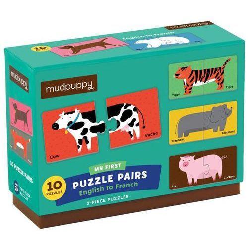 Mudpuppy  dwujęzyczne puzzle ze zwierzątkami - angielski/francuski