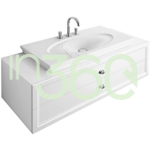 Villeroy & boch la belle szafka podumywalkowa, 1350 x 420 x 540 mm, uchwyt chromowany, biel lakierowana blyszczaca a58310dj