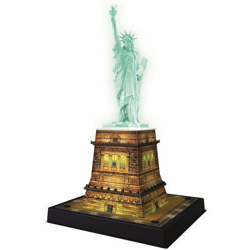 108 ELEMENTÓW 3D Statua Wolności noc