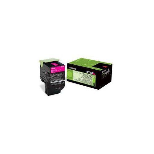 Lexmark toner Magenta 802ME, 80C20ME (return)