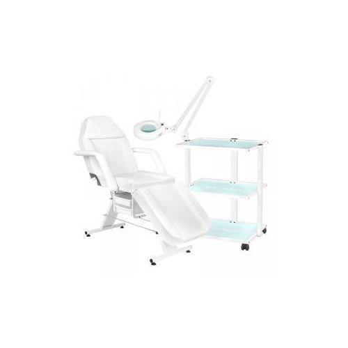 Fotel kosmetyczny 202 basic + stolik kosmetyczny 1040 + lampa lupa led s5 marki Vanity_a