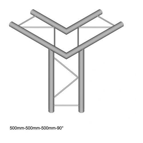 Duratruss dt 22-c31h-ld element konstrukcji aluminiowej narożnik 90st + dół