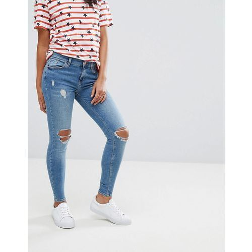 River island  amelie distressed skinny jeans - blue