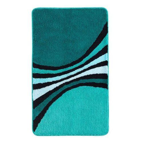 Bonprix Dywaniki łazienkowe we wzór w harmonijnym połączeniu kolorów niebieskozielony morski