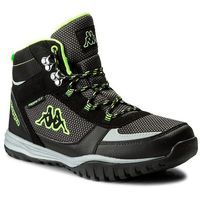 Trekkingi KAPPA - Mountain Tex 242369 Black/Green 1130, kolor czarny