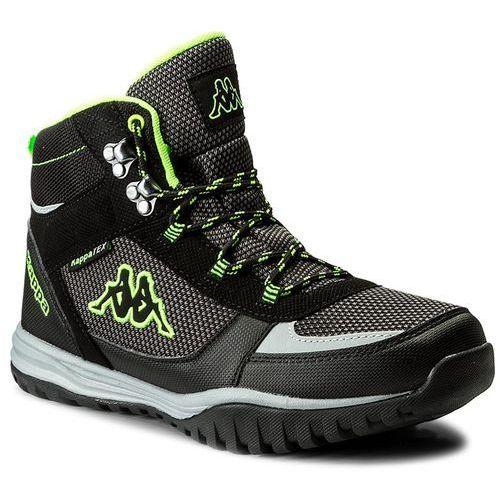 Trekkingi KAPPA - Mountain Tex 242369 Black/Green 1130, kolor czarny