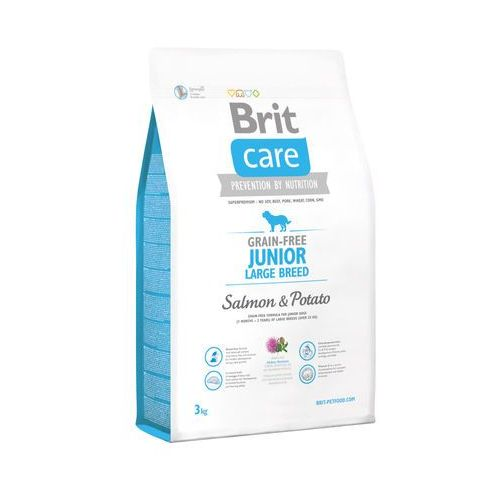 BRIT CARE GRAIN FREE JUNIOR LARGE SALMON & POTATO - 3KG - 3000 (8595602510108)
