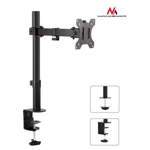Maclean MC-752 Uchwyt biurkowy do monitora 13-32'' 8kg vesa 75x75, 100x100 MC-752 - odbiór w 2000 punktach - Salony, Paczkomaty, Stacje Orlen