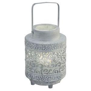 Stojąca LAMPKA stołowa TALBOT 49275 Eglo OPRAWA metalowa wzorki szara, 49275