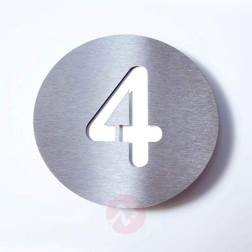 Tabliczka z numerem domu round, stal szl. – 4 marki Absolut/ radius