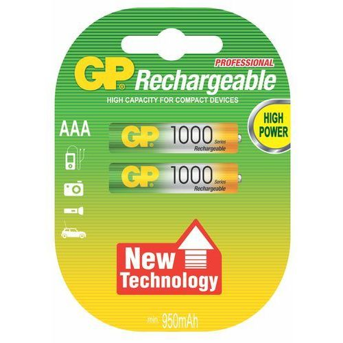 Gp-batteries Gp batteries akumulatory 1000aaa (2 szt.) (4891199079061)