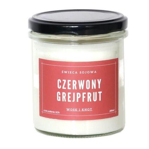 Świeca sojowa czerwony grejpfrut - aromatyczna ręcznie robiona naturalna świeca zapachowa w słoiczku 300ml marki Cup&you cup and you