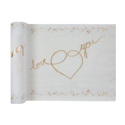 Dekoracja bieżnik na stół - love you - 30 x 300 cm - 1 szt. marki Santex