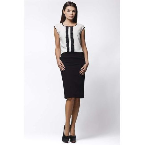 Biała Minimalistyczna Bluzka bez Rękawów z Falbankami, kolor biały