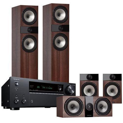 Onkyo Kino domowe tx-nr696b + fyne audio f303/f301/f300c orzech (2907372555733)