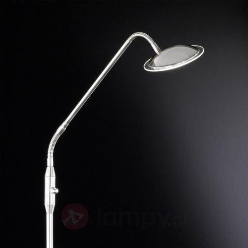 Twin elegancka lampa stojąca LED 1-punktowa nikiel