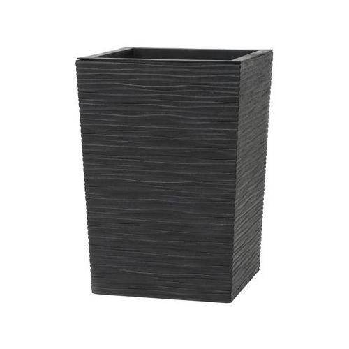 Donica ogrodowa 34 x 34 cm czarna serenity marki Tierra verde
