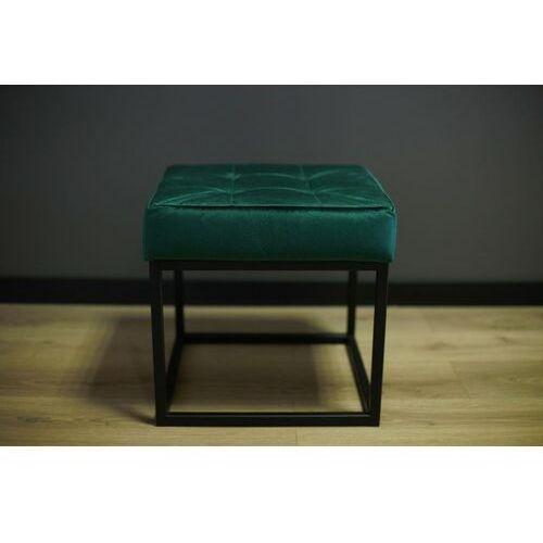 Siedzisko, ławka metalowa z pikowaniem sigi45 zielona marki Reqube