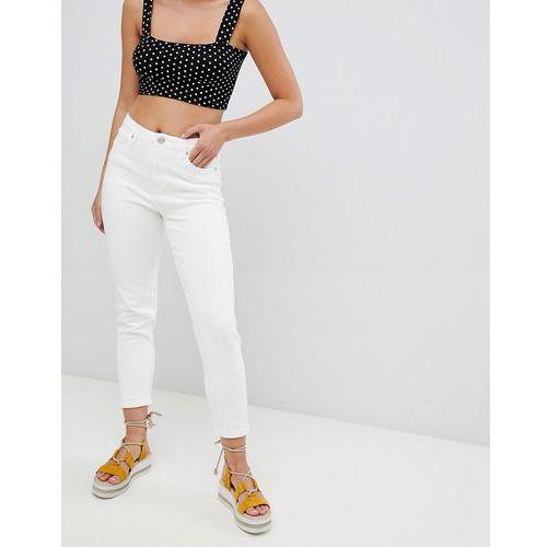 PrettyLittleThing Straight Leg Jeans - White, kolor biały