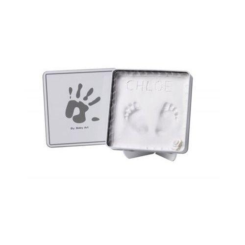 puszka na odcisk set - magic box, kwadratowa, white marki Baby art