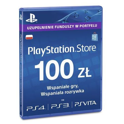 Karta  prepaid psn 100pln + darmowy transport! marki Sony