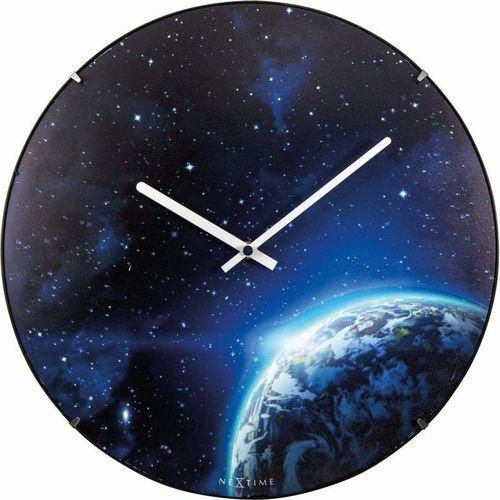 NeXtime - Zegar ścienny Globe Dome - niebieski