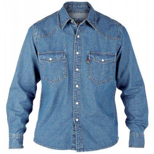 Duke Western Duża Koszula Męska Błękitna