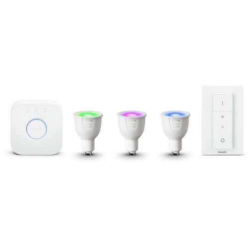 Philips hue Hue white and color ambiance zestaw startowy 3 x gu10 + regulator 8718696748930