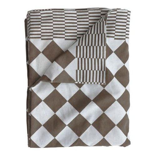 obrus w tradycyjny holenderski wzór, kolor brązowy, 140x200 cm tot4011 marki Hk living