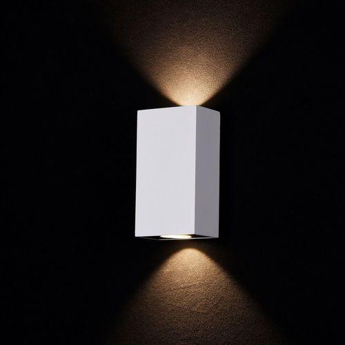 Biały kinkiet zewnętrzny LED kwadratowy, prostokątny Times Square Maytoni (O581WL-L6W) (4251110057002)
