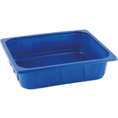 Duni Pojemnik plastikowy 1/2 gn | niebieski | 325x265x80 mm | 96szt.
