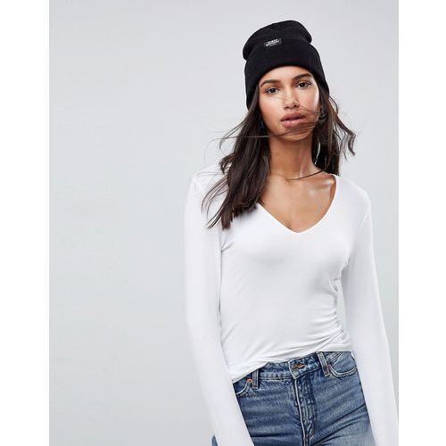 design ultimate top with long sleeve and v-neck - white, Asos