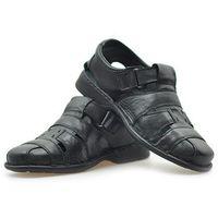 Sandały 01245-me-k10 czarne lico marki Gregor