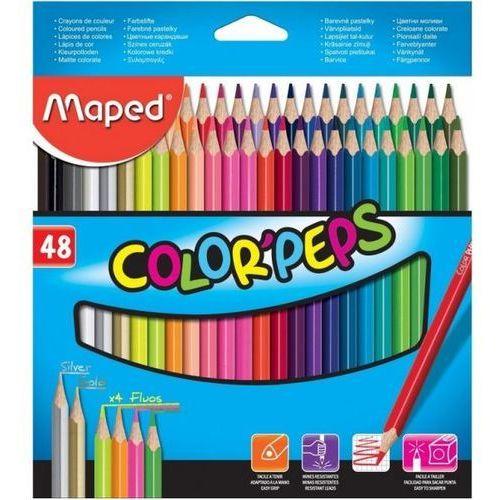 Maped Kredki colorpeps ołówkowe trójkątne 48 kolorów - (3154148320487)