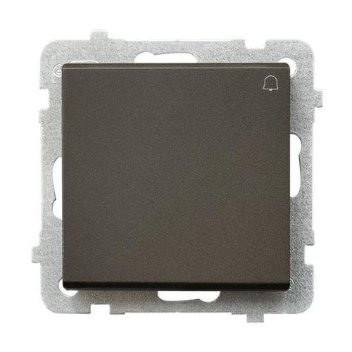 Przycisk dzwonek sonata 10ax czekoladowy metalik ip20 łp-6r/m/40 marki Ospel