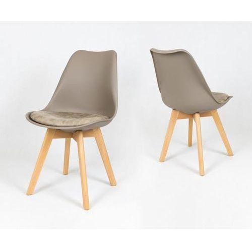Sk design kr020 matowe kawa z mlekiem krzesło na drewnianym stelażu (5902846828266)